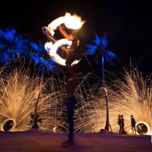 phuket fire dancer - fire twirler
